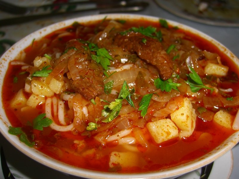Супы из свинины лагман в домашних условиях