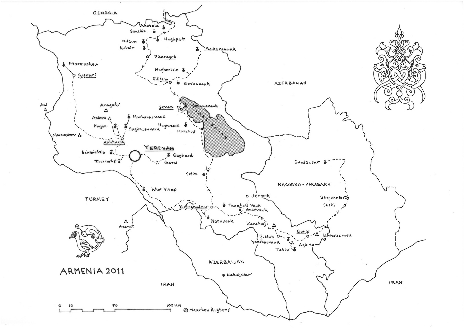 Travel routes in Armenia