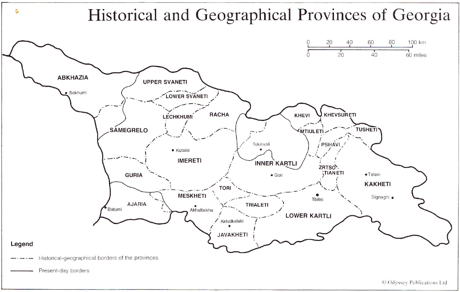 Historical anf Geographical provinces of Georgia