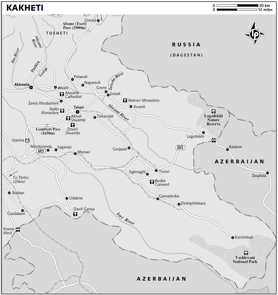 Map Of Kakheti Georgia.Kakheti Georgia