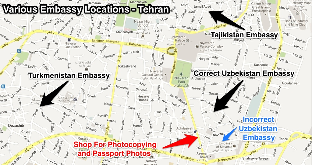 Foreign embassies in Tehran