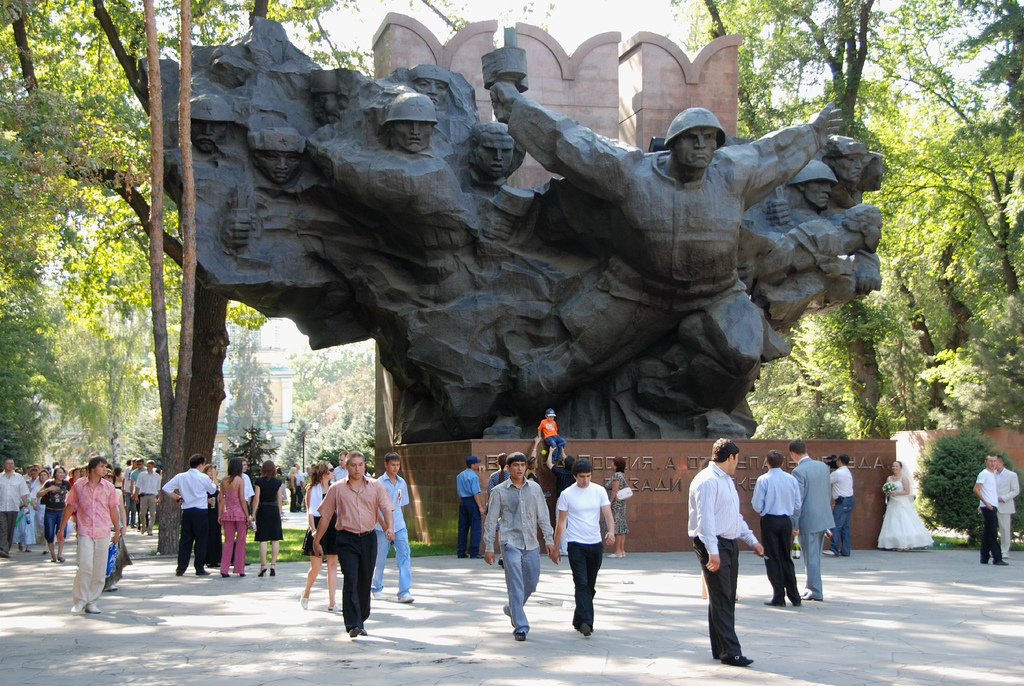 Not far from the historical museum is Panfilov Park, named after Ivan Panfiolov, who died leading a Kyrgyz regiment against Nazi tanks in WWII.