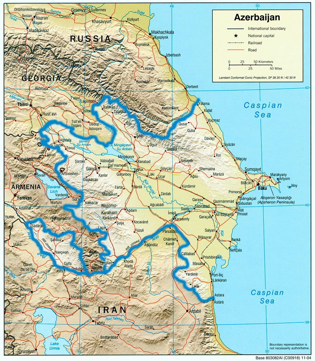 Small map of Azerbaijan