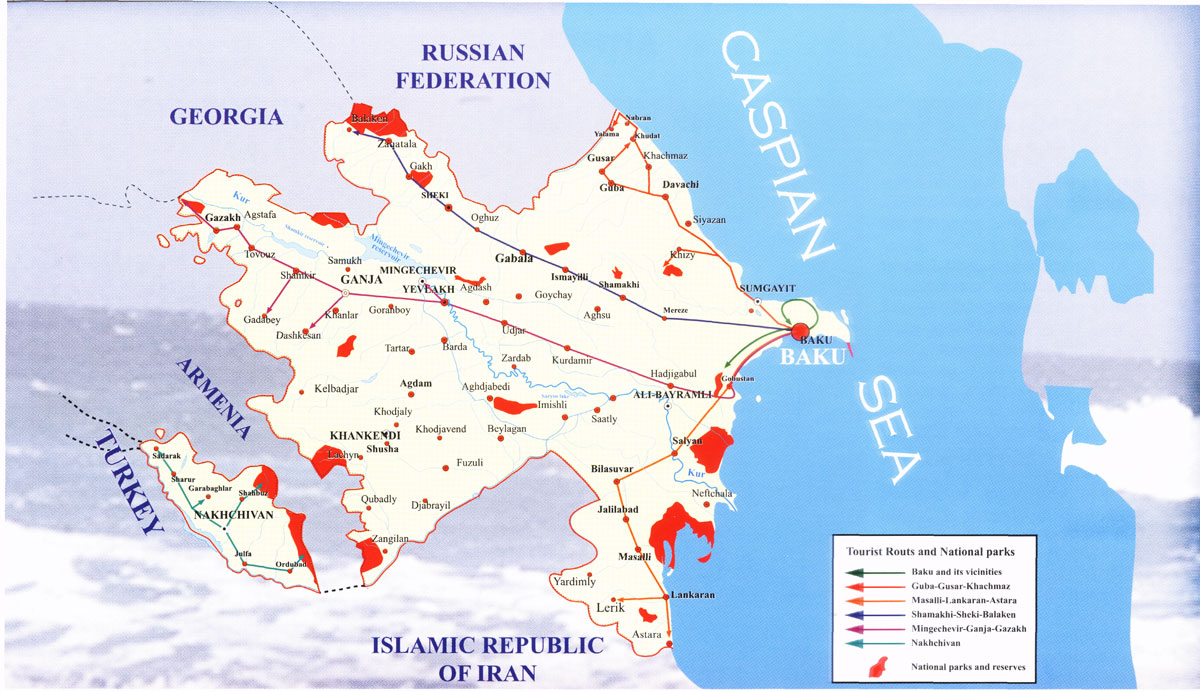 Azerbaijan Maps - Azerbaijan maps with countries
