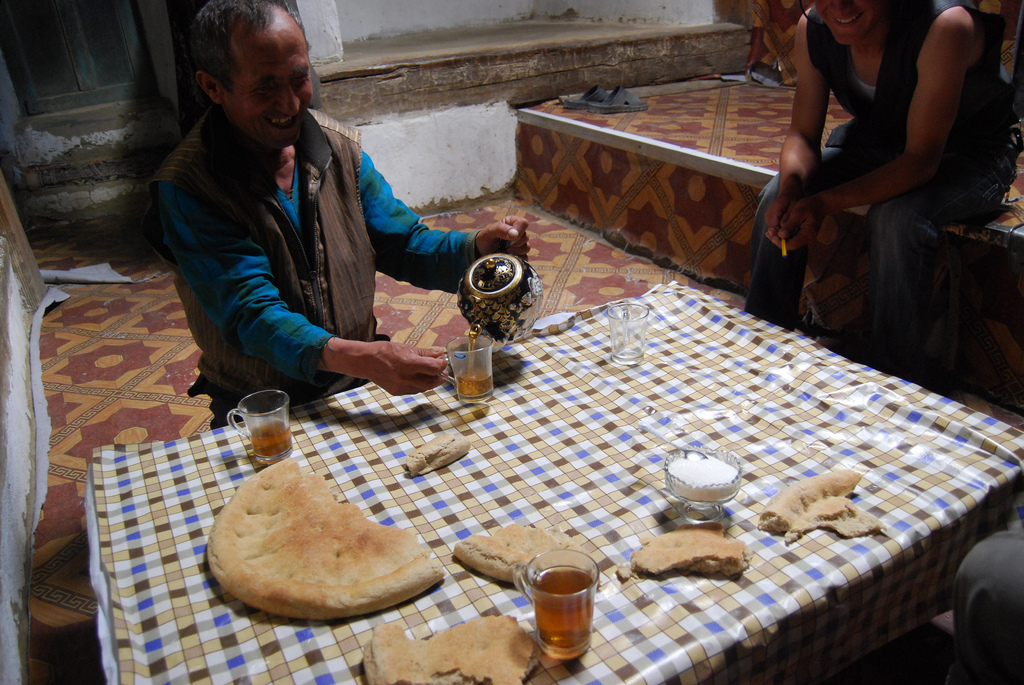 Tea ceremony in Tajikistan