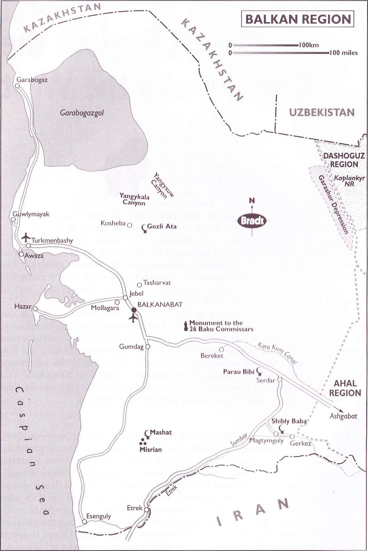 Maps of Turkmenistan