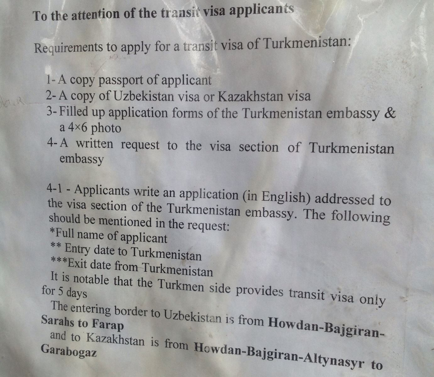 Getting central asian visas in tehran documents required 1x application form available at embassy 1x colour copy of uzbekistan visa 1x colour copy of passport page 1x passport photo stopboris Gallery