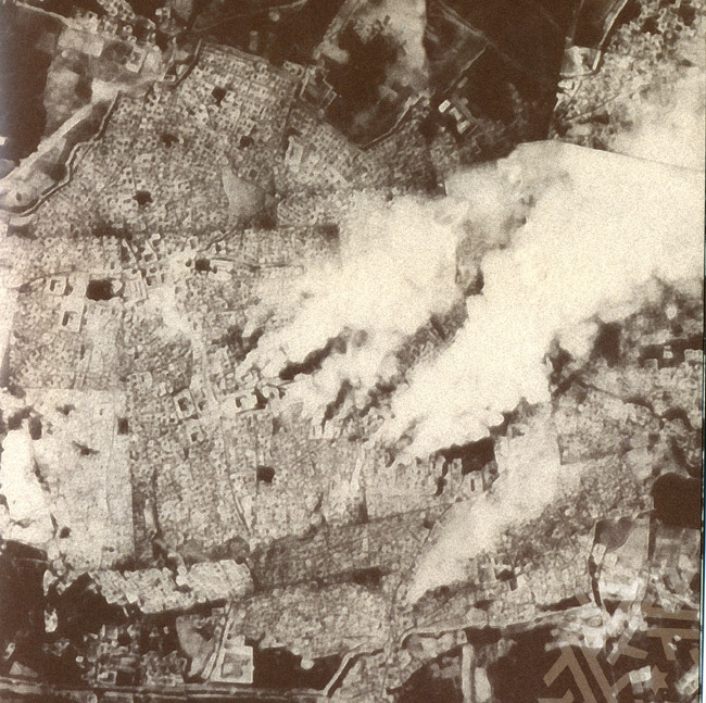Fires in Bukhara in the storming of the Red Army. Photograph of an airplane, September 1, 1920
