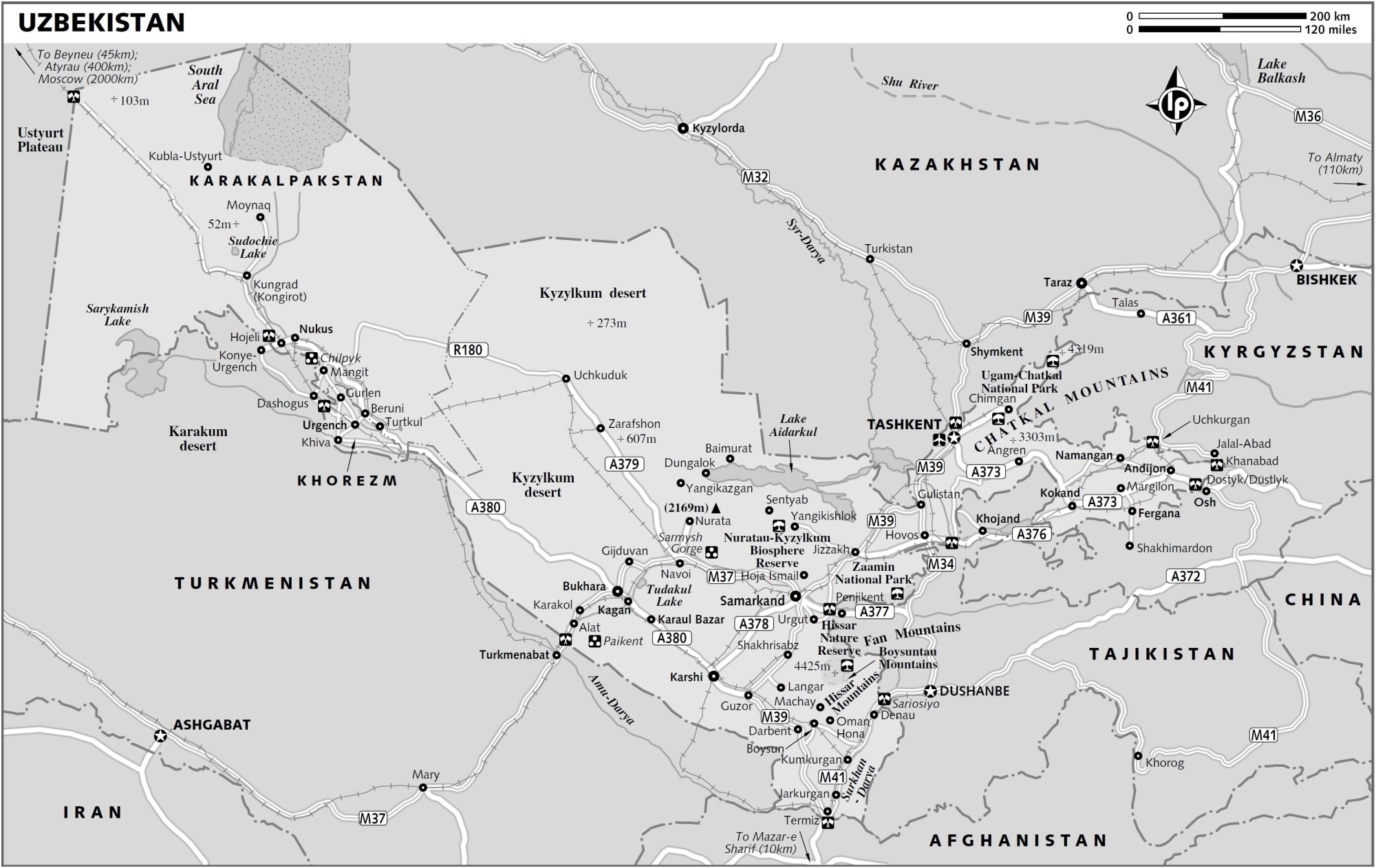 Maps of Uzbekistan